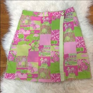 Lilly Pulitzer Rare Pink and Green Skort Skirt 4